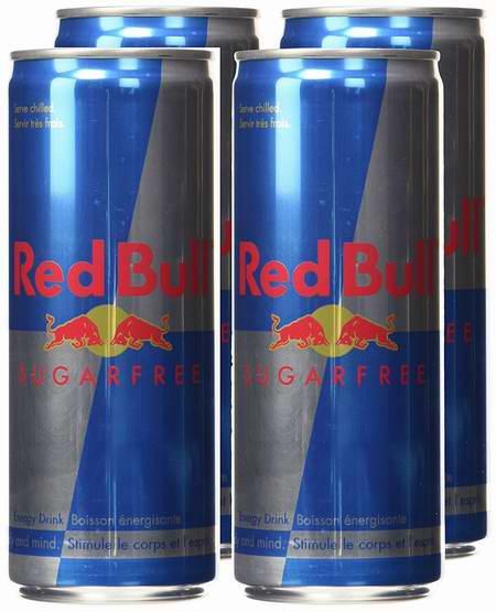 抗疲劳提神,激发能量!Red Bull 红牛无糖能量饮料4罐装 7.97加元限量特卖并包邮!