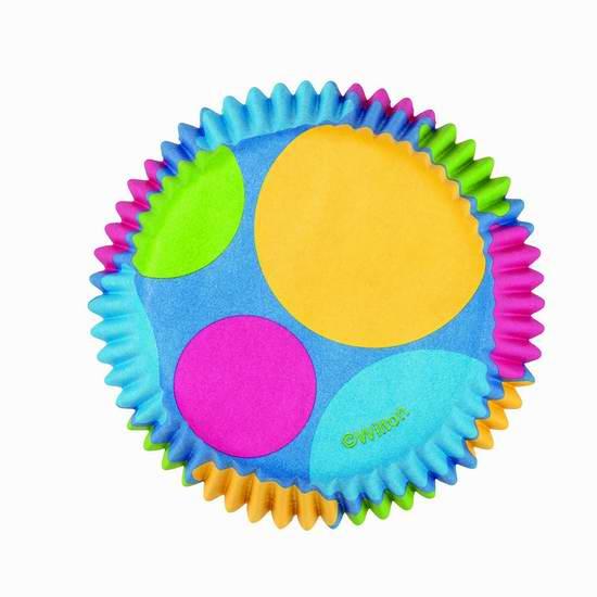 歷史新低!Wilton Retro Dots 迷你彩色烤蛋糕杯1.4折 1加元限時特賣!