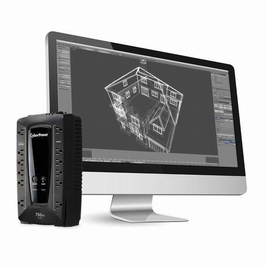 历史新低!CyberPower AVRG750U 750VA 450W UPS 不间断电源4.6折 54.38加元限时特卖并包邮!