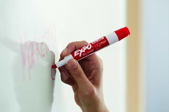 历史新低!Expo 无毒低气味可擦干擦 红色马克笔/记号笔12支装3.6折 10.16元限时特卖!