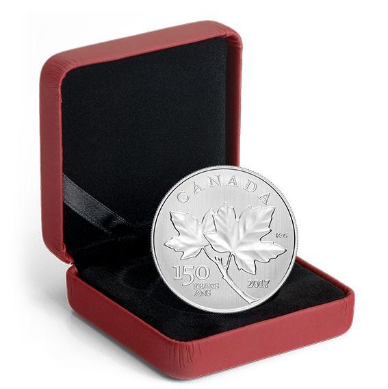 2017加拿大国庆150周年纯银枫叶纪念币 29.95元销售并包邮!