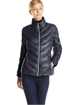Calvin Klein 女士轻薄雪佛龙夹克 38.59加元起特卖(4色),原价 260加元
