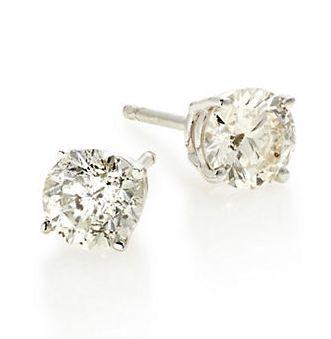EFFY 18K白金钻石耳钉 1683加元(1TCW),原价 4400加元,包邮
