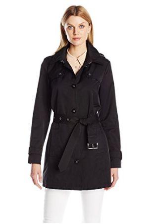 Tommy Hilfiger女式经典长款连帽风衣 59.91加元(小号),原价 243加元,包邮