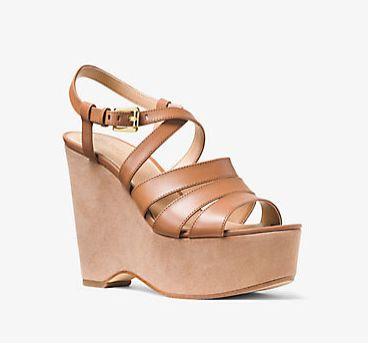 Michael Kors Mariana 真皮坡跟凉鞋 74.25加元(2色),原价 178加元,包邮