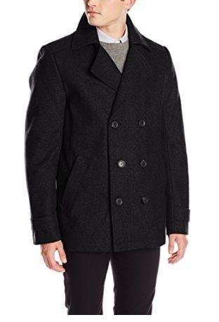Calvin Klein双排扣羊毛外套 70.82加元(小号),原价 161.85加元,包邮