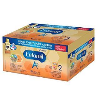 Enfamil A+2 婴儿配方奶粉(18瓶)  45.3加元包邮!