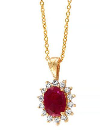 EFFY 14K金红宝石吊坠镶钻项链 849.99加元,原价 3220加元,包邮