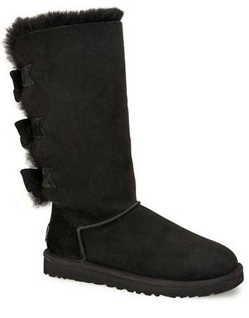 UGG Amelie黑色蝴蝶结雪地靴 237.5加元(9码),原价 475加元,包邮