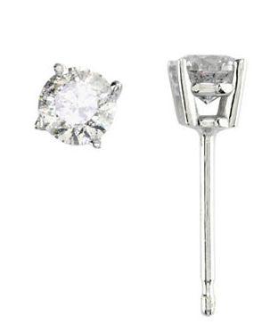 一流的品质!EFFY 18K白金钻石耳钉 945加元,原价 2100加元,包邮