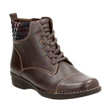 CLARKS Whistle Bea棕色系带高跟鞋 53.55-63加元(5-6码),原价 180加元