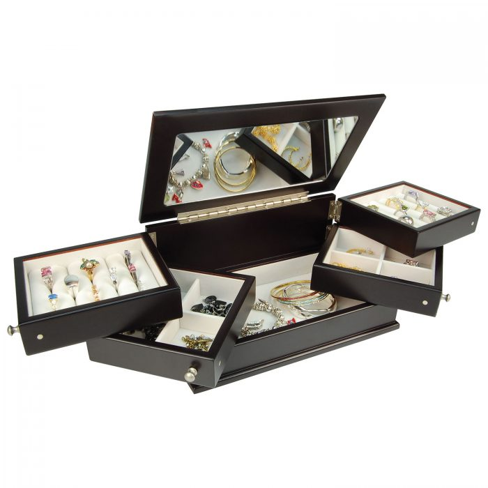 Gunther Mele Wood珠宝首饰收纳盒 65.99加元,原价 94.99加元,包邮