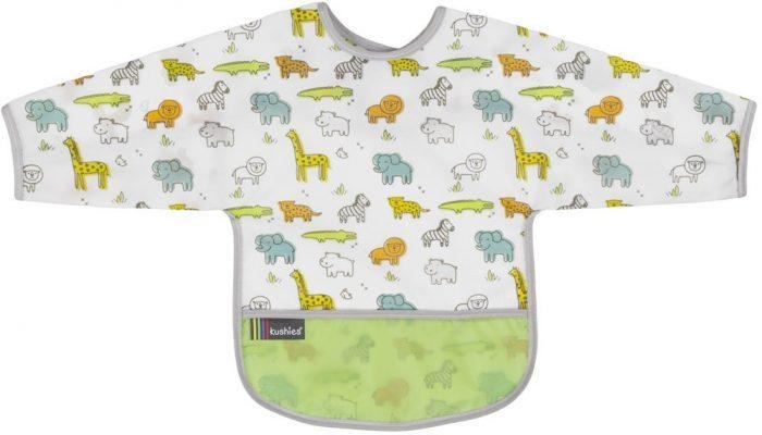 Kushies带袖防水围兜 10.19加元(6色可选),原价13.99加元