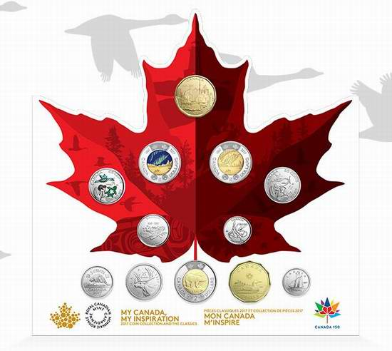 2017加拿大国庆150周年经典限量版纪念币12件套 34.95加元销售!