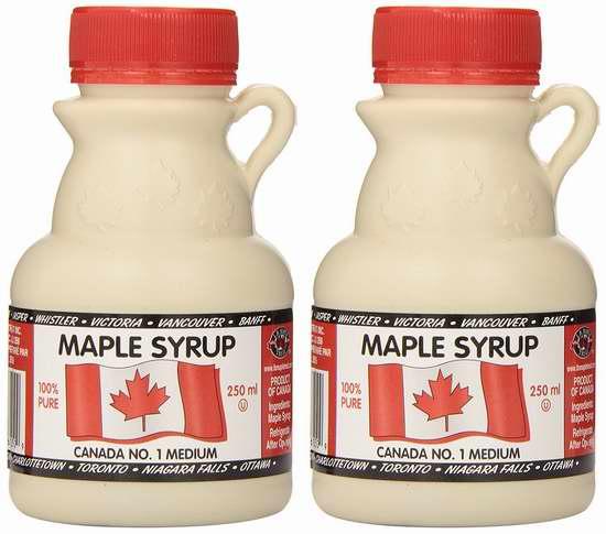 历史新低! L B Maple Treat Canada #1 枫糖浆250毫升2瓶装 9.7加元限时特卖!