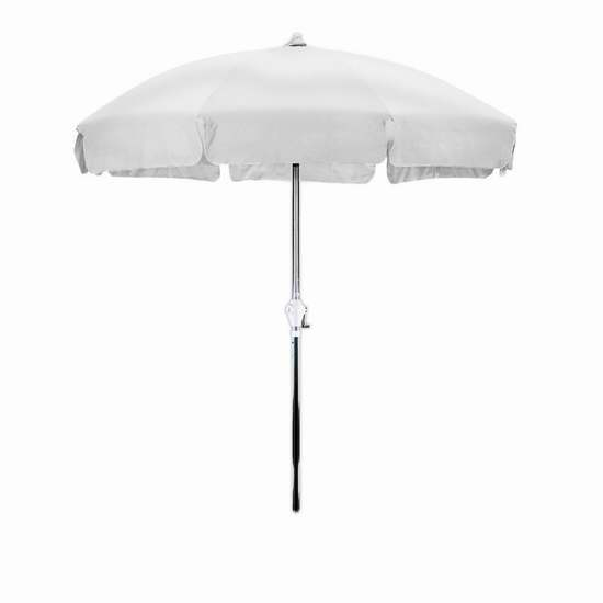 历史新低!California Umbrella 7.5英尺可倾斜庭院遮阳伞3.3折 31.97加元限时特卖!