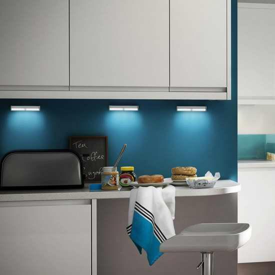 Kealive 10 LED 超亮无线运动感应灯3件套 26.39加元限量特卖!