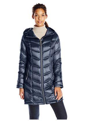 Calvin Klein 女式时尚中长羽绒服1.7折 60.99加元起限时清仓并包邮!三色可选!