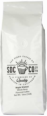 San Diego Coffee Maple Walnut味 烤咖啡豆1磅4.8折 9.5加元限量特卖!