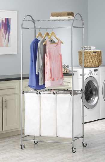 售价大降!历史新低! Whitmor 6705-2815 豪华可移动式脏衣收纳架3折 26.83加元限时清仓!