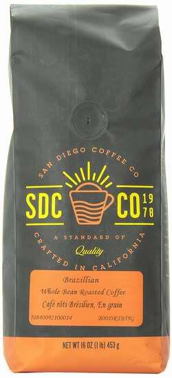 历史新低!San Diego Coffee 巴西烤咖啡豆2磅4.1折 11.14加元限量特卖!