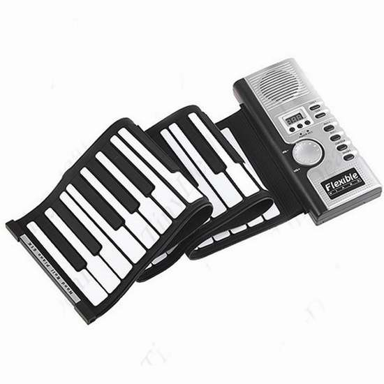 白菜价!历史新低!Napoo 便携手卷式61键电子琴2折 19.99加元清仓!