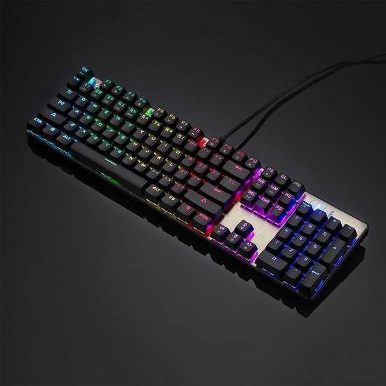 NPET CK104 处罚者 RGB背光机械游戏键盘 55.24加元限量特卖并包邮!