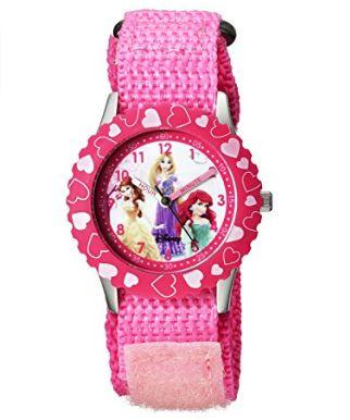 历史新低!Disney 迪士尼 W000966 儿童粉红印花公主石英腕表3.2折 13.82加元限时特卖!
