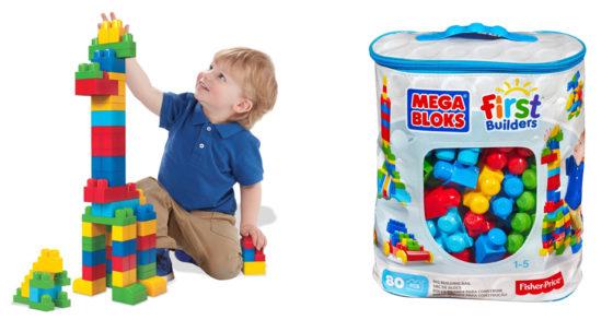 历史最低价!Mega Bloks 经典款大号积木80件套5折 9.97加元限时特卖!