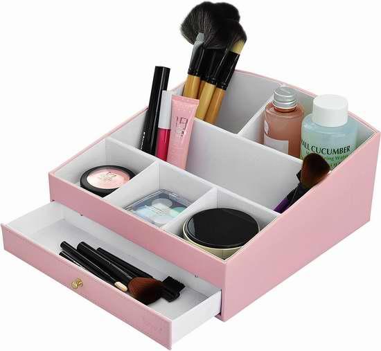 Surpahs Velvet Leather 化妆品分类收纳盒 14.43加元限量特卖!
