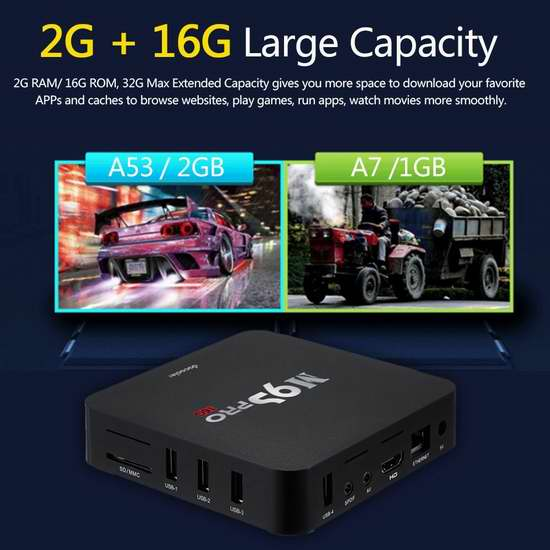 售价大降!历史新低!Docooler M9S-PRO 4K高清3D四核流媒体播放器/网络电视机顶盒(2GB/16GB) 39加元限时特卖并包邮!