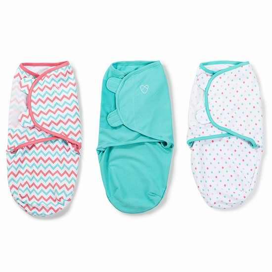 SwaddleMe Original Swaddle 有机棉婴儿襁褓毛毯3件套 28加元限时特卖!