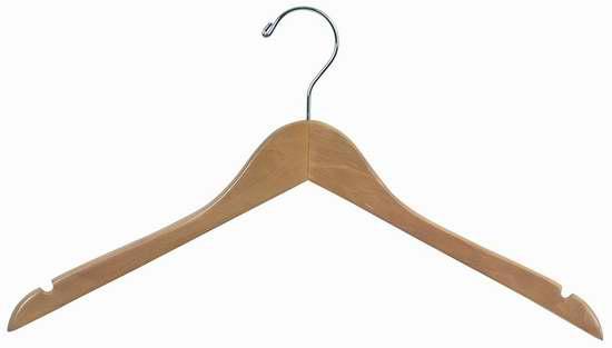 历史新低!The Great American Hanger Company 木制衣架50件套2.5折 18.65加元限时清仓!
