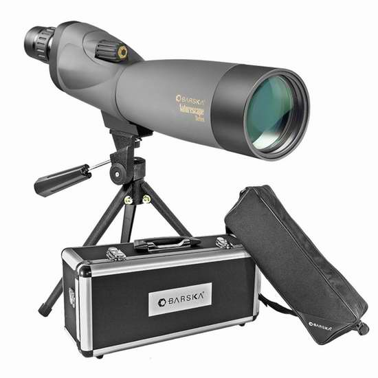 历史新低!Barska AD10968 Naturescape 20-60x60mm 单筒观鸟镜/望远镜2.9折 75.83加元限时特卖并包邮!