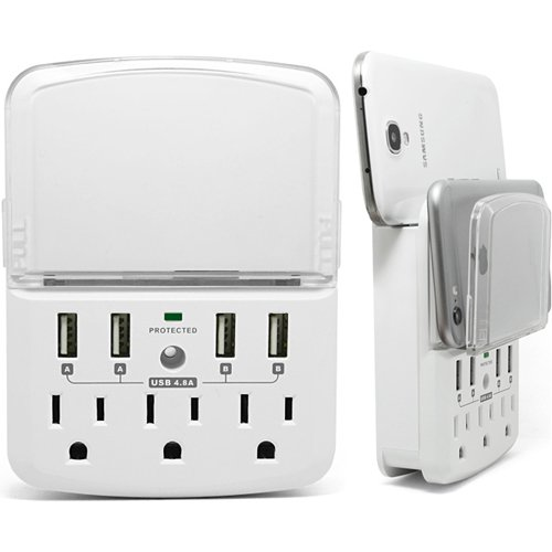 RND 3 插座 + 4 USB充电 防雷防浪涌 插座充电器 18.27加元限量特卖!