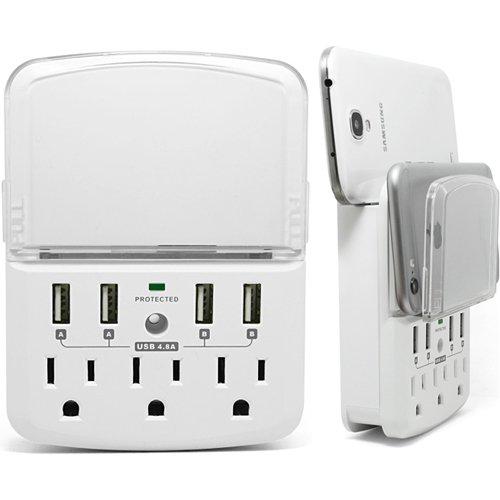 RND 3 插座 + 4 USB充電 防雷防浪涌 插座充電器 18.27加元限量特賣!