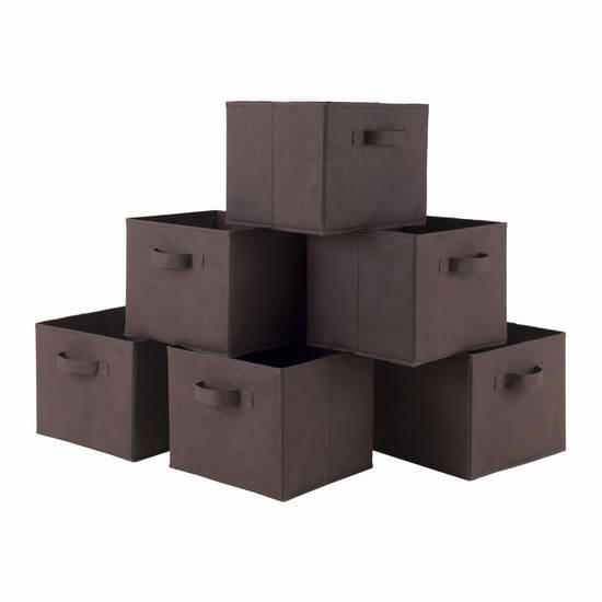 历史新低!Winsome Wood Capri 巧克力色布艺收纳盒6件套 23.34加元限时特卖!