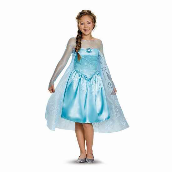 歷史新低!Disguise Costumes 冰雪奇緣 Elsa 女童公主裙(10-12) 20.91加元限時特賣!