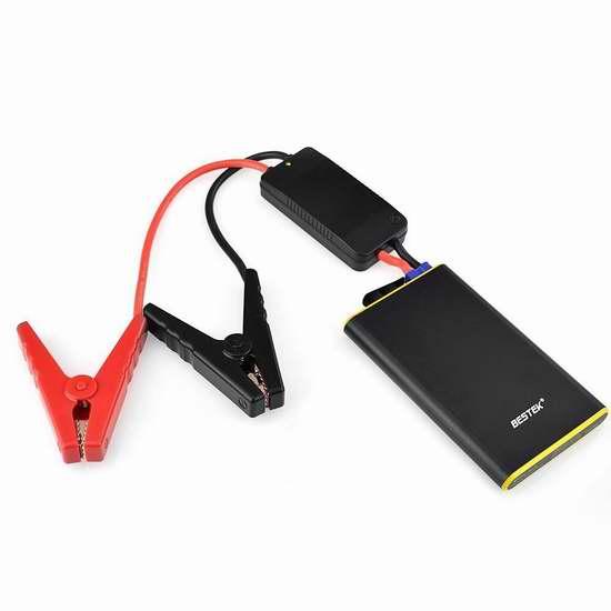 BESTEK 5600mAh 超薄攜帶型移動電源/充電寶/汽車電瓶緊急啟動電源 39.09加元限量特賣並包郵!