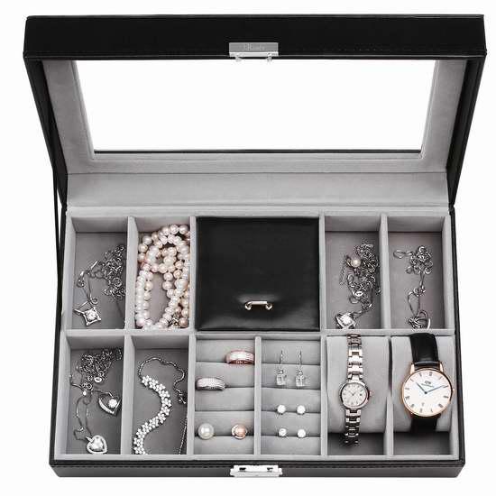J.Rosée 大號PU皮首飾手錶收納盒 25.49加元限量特賣並包郵!