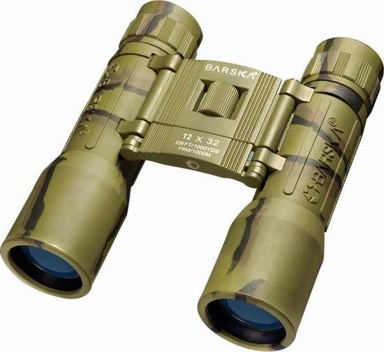 历史新低!Barska AB10120 Lucid 12x32 紧凑型双筒望远镜 11.69加元限时清仓!