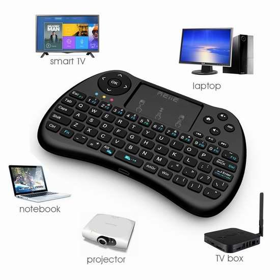 REIIE H9S 三合一带触摸板无线多媒体迷你键盘 13.59加元限量特卖!