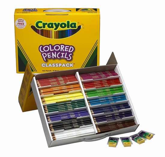 Crayola 绘儿乐 彩色铅笔462支装5.1折 57.18加元限量特卖并包邮!