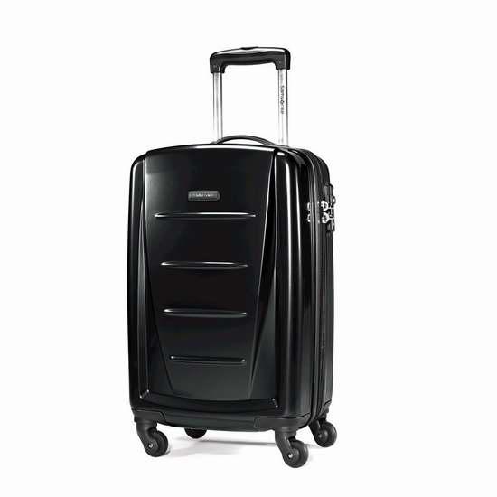 白菜价!Samsonite 新秀丽 20寸黑色超轻拉杆行李箱 68.66加元包邮!