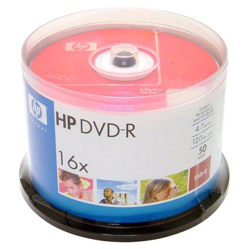历史新低!Hewlett Packard 惠普 16X 4.7GB DVD-R 可刻录光盘50件套3.5折 10.75加元限时特卖!