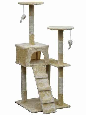 Homesity HC-009 51英寸轻便经济型多层猫树公寓/猫爬架 59.4加元,原价 160.84加元,包邮