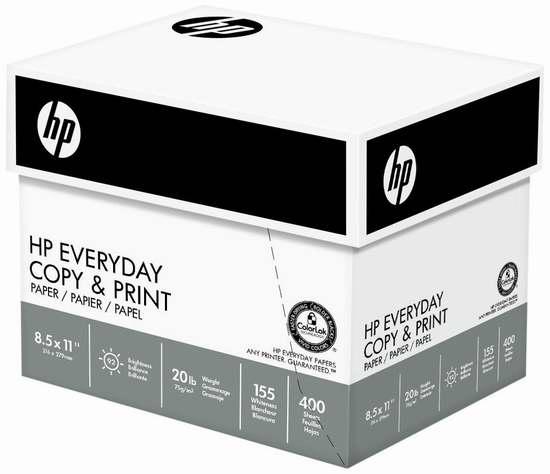 历史新低!HP Everyday 高质量打印复印多用途纸(6包 2400张) 23.22加元限时特卖!