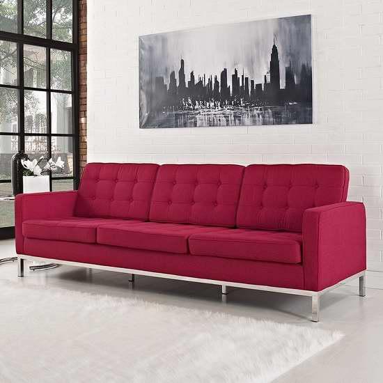 历史新低!LexMod Florence 佛罗伦萨风格羊毛沙发2折 503.74加元限时清仓并包邮!