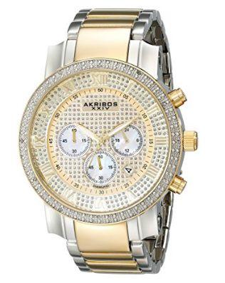 历史新低!Akribos XXIV AK439TT 男士奢华钻石三眼腕表 69.7加元限量特卖并包邮!