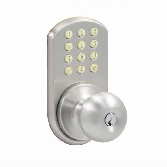 历史新低!Morning Industry HKK-01SN 电子密码门锁3.2折 60.69加元限时特卖并包邮!